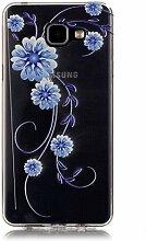 TOYYM Case für Samsung Galaxy A3(2016) aus Transparentem Gummi, Farbenfrohe Serie mit Blumen und Tieren für Mädchen, Slim-Fit, Dünnes Design, Soft-Gel TPU-Gummi, Schutzhülle für Samsung Galaxy A3(2016) sm-a310F, mit Staubschutz-Stöpsel (Blume) und Eingabestift, Colour-2, Samsung Galaxy A3 (2016)