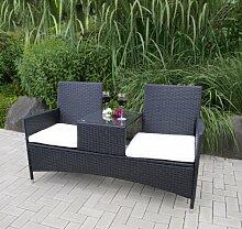 TPFGarden Gartenbank mit Ablage Vincent 153cm
