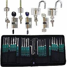 TPM Go 32 Dietrich-Werkzeuge mit 7 transparenten