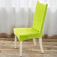 TPulling Siamese Stretch Stuhlabdeckung Vier Jahreszeiten Universalmodelle Universal Spandex Esszimmer Hochzeitsbankett Dicker Plüsch-Absatz Slip Cover (grün)