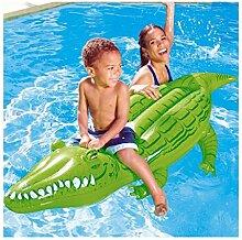Trade Shop traesio Krokodil Aufsitzspielzeug Rettungsring Riesen Spiel aufblasbar 168x 79cm