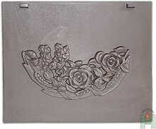 Tradehub Kaminplatte Ofenplatte Metallbild Wandbild Relief für Kamin aus Gusseisen | Maße: 520x420 mm