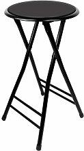 Trademark Gameroom Black Cushioned Folding Hocker, 24