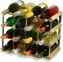 Traditional Wine Rack - 16 Bottle Assembled Wine