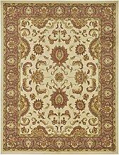 Traditionelle Agra Bereich Teppich, Polypropylen, cremefarben, 9 x 12