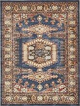 Traditionelle Arcadia Bereich Teppich, Polypropylen, dunkelblau, 15 x 22