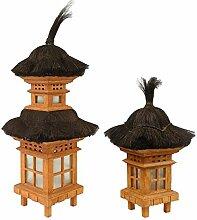 Traditionelle Bali Garten-Lampe orientalisch