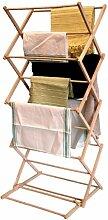 Traditionelle Folding Holz Wäscheständer