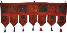 Traditionelle indische bestickt Arbeit Design Tür Volant 100x 40cm