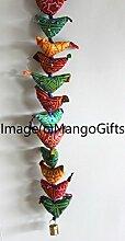 Traditionelle indische Dekoration zum Aufhängen 15Tota Bird Bell Door Hanging von Mango Gifts Indien