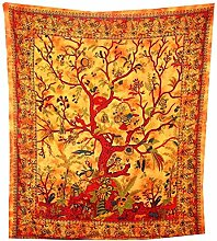 Traditionelle Jaipur Twin Tie Dye Indian Tree Of