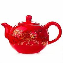 Traditionelle Keramik-Teekanne mit Drachen-Motiv,