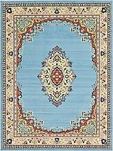 Traditionelle Mashad Bereich Teppich, Polypropylen, hellblau, 10 x 13