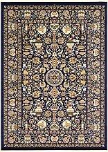 Traditionelle Mashad Bereich Teppich, Polypropylen, marineblau, 8 x 11