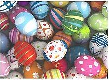 Traditionelle Ostern bemalte Eier Baumwolle Leinen