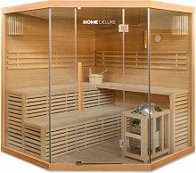 Traditionelle Sauna Skyline XL BIG | Eckkabine,