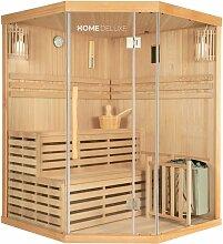 Traditionelle Sauna Skyline XL | Eckkabine,