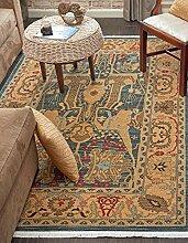 Traditionelle serapi Bereich Teppich, Polypropylen, marineblau, 2 x 3