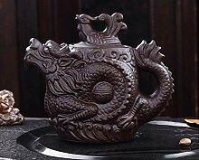 Traditionelle Teekanne mit Drachen- und