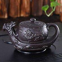 Traditionelle Teekanne mit Drachenmotiv, 400 ml