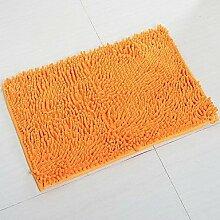 Traditionellen Badezimmer Chenille stengel Bath Mat , orange