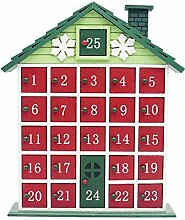 Traditioneller Holz Christmas Countdown
