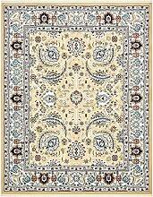 Traditioneller Teppich Täbris Bereich, Polypropylen, hautfarben, 8 x 10