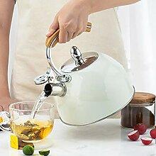 Traditioneller Wasserkocher mit Pfeife Edelstahl