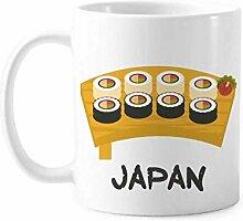 Traditionelles japanisches Sushi-Set aus Keramik