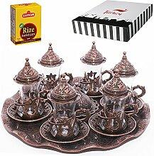 Traditionelles türkisches Teegläser-Set,