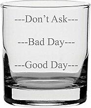 Traditionelles Whisky-Glas mit dreistufigem Design