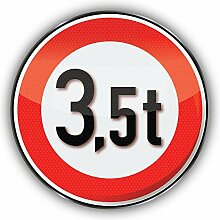 Traffic 3.5 Tonnes Emblem Car Plate -