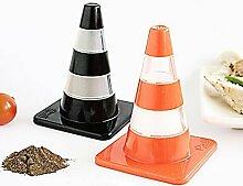 Traffic Cone Salt & Pepper Shakers Set. High