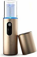 Tragbar Mini Gesichtssauna Nano Spray Instrument von GOOTRADES, Beauty Ausrüstung Gesichtsdampfer Luftbefeuchter, Gold