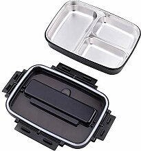 Tragbare Edelstahl-304 Bento Box mit 3