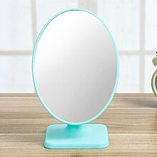 Tragbare Falten für einfache desktop Desktop Spiegel Spiegel Spiegel quadratisch Prinzessin spiegel spiegel,runder Türkis