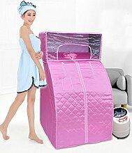 Tragbare persönliche Behandlung Dampfsauna SPA Abnehmen Detoxien Gewichtsverlust Familie Indoor , Pink