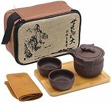 Tragbare Reise Kungfu Zisha Tee Set,