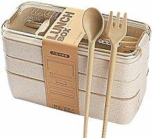 Tragbare Weizenstroh Umweltschutz Lunch Box Office