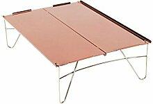 Tragbarer Camping Tisch mit Aluminium-Tischplatte,