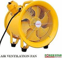 Tragbarer Industrieller Ventilator Auspuff Axial Gebläse Extraktor Explosionsgeschützt (EX) Lüfter Mit Schacht 25.4cm - 25cm nur Ventilator