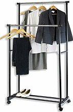 Tragbarer Kleiderständer mit zwei Stangen