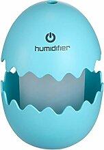 Tragbarer Luftbefeuchter, Outgeek USB Luftbefeuchter Tragbare Lustige Ei Form Multicolor Mini Stumm Luftbefeuchter mit LED Lich