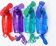 Tragbarer Mini Ventilator Taschenventilator Handventilator mit Umhängeband (1, Lila)