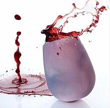 Tragbarer Weinbecher aus Silikon, unzerbrechlich,