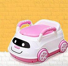 Training Aids Töpfchen Kinder Pissoir, Babytopf, Kindertoilette Kinder Frosch Urinal (Farbe : Pink)