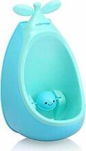 Training Aids Töpfchen Kinder Pissoir, Babytopf, Kindertoilette Kinder Frosch Urinal (Farbe : Blau)