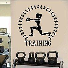 Training Gym Sport Mädchen Fitness Aufkleber