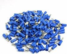 Trainingsunterlagen für Pre Isolierte weiblich Spaten Crimp Terminals Blau für AWG 16–14Kabel
