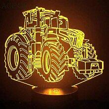 Traktor 3D Nachtlicht LVYONG Optische Illusion